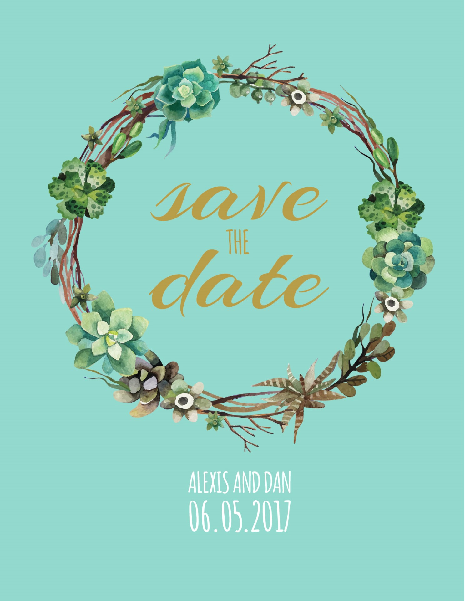 Succulence - Save the Date 1
