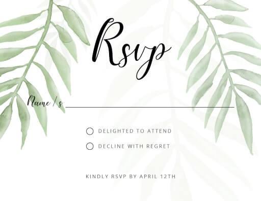 Forest Walk - RSVP Cards