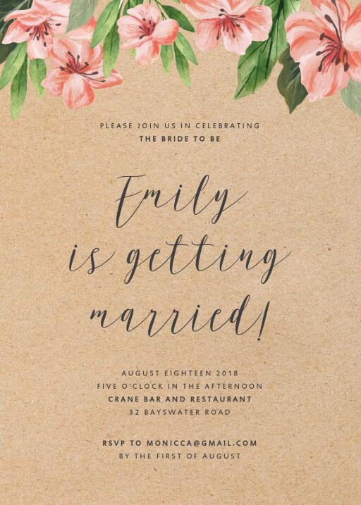 Enchanted Day - bridal shower invitations