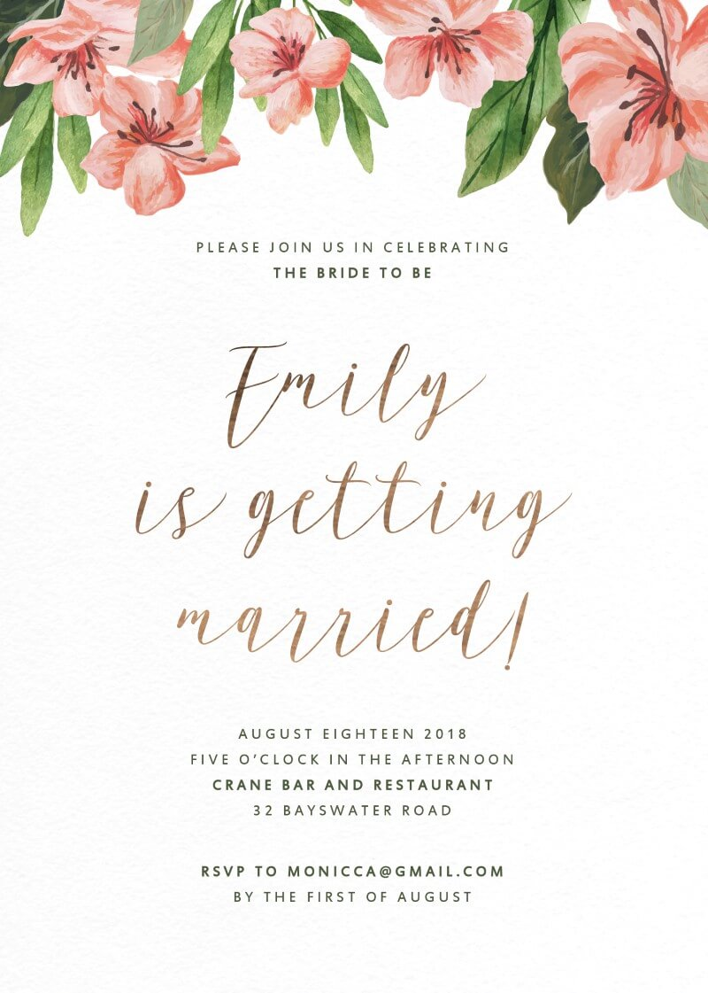 Enchanted Day - Bridal Shower Invitations