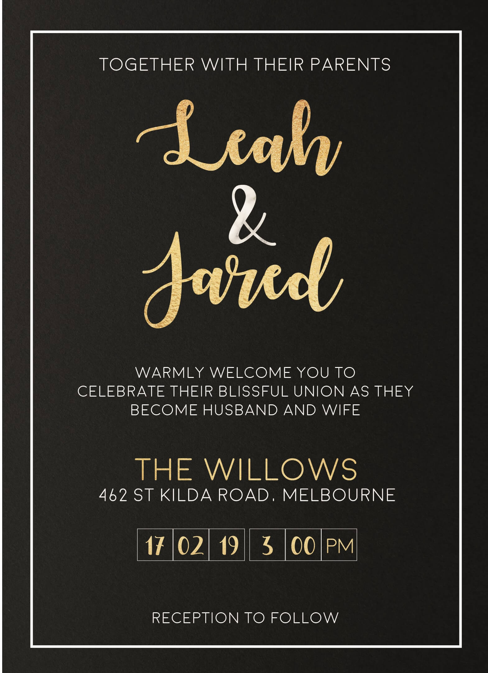 Foiling For You - Wedding Invitations
