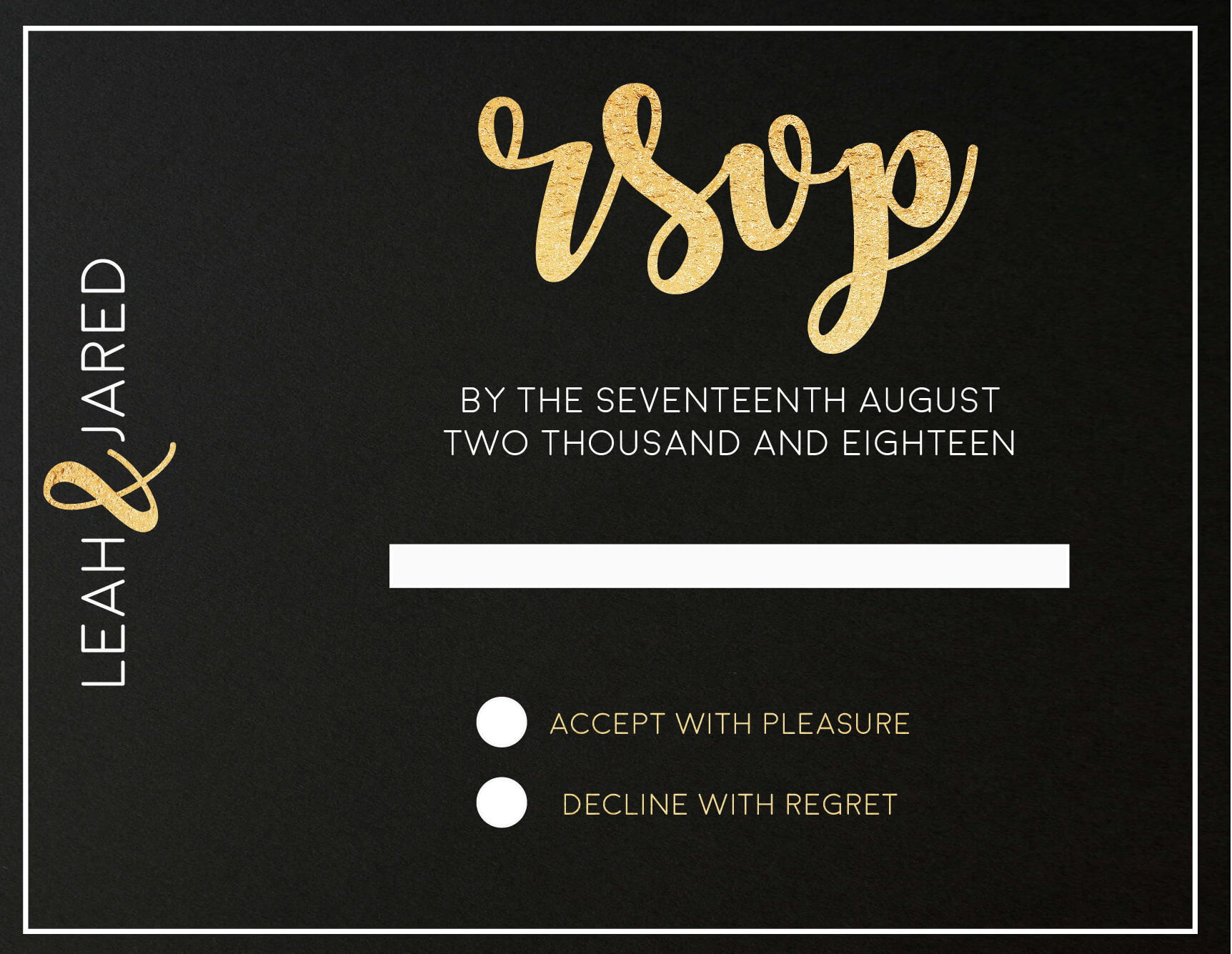 Foiling For You - RSVP