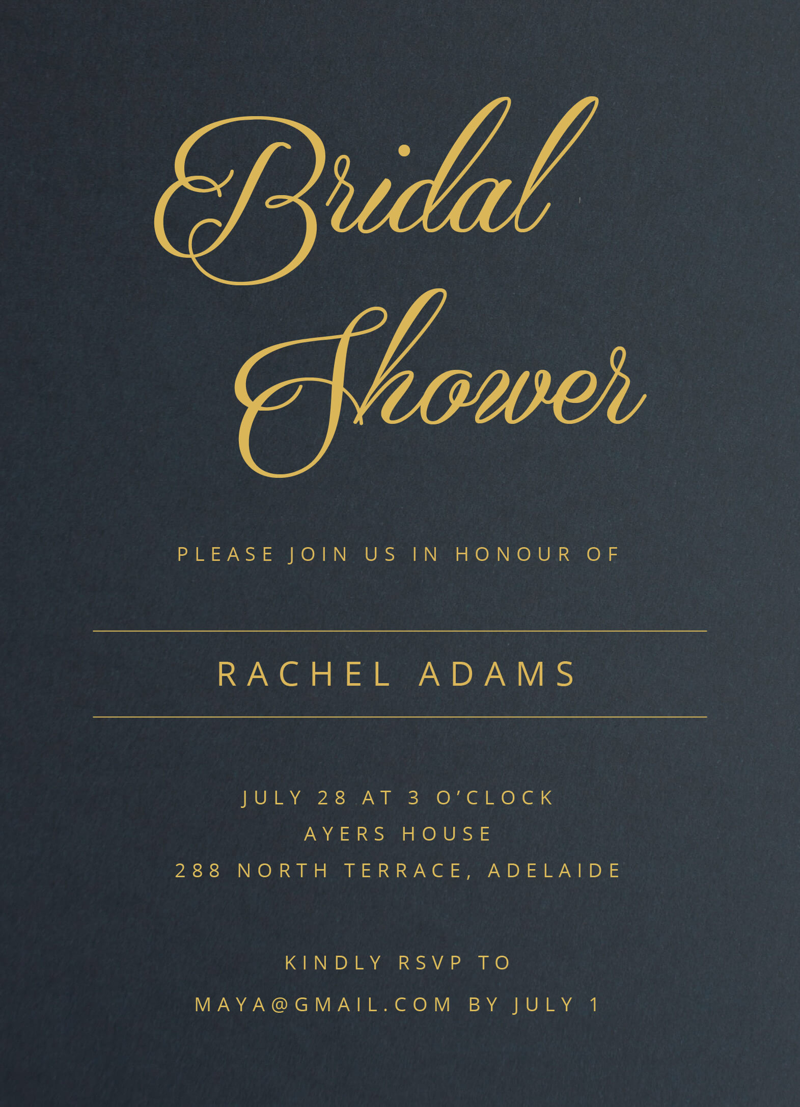 Constellation - Bridal Shower Invitations