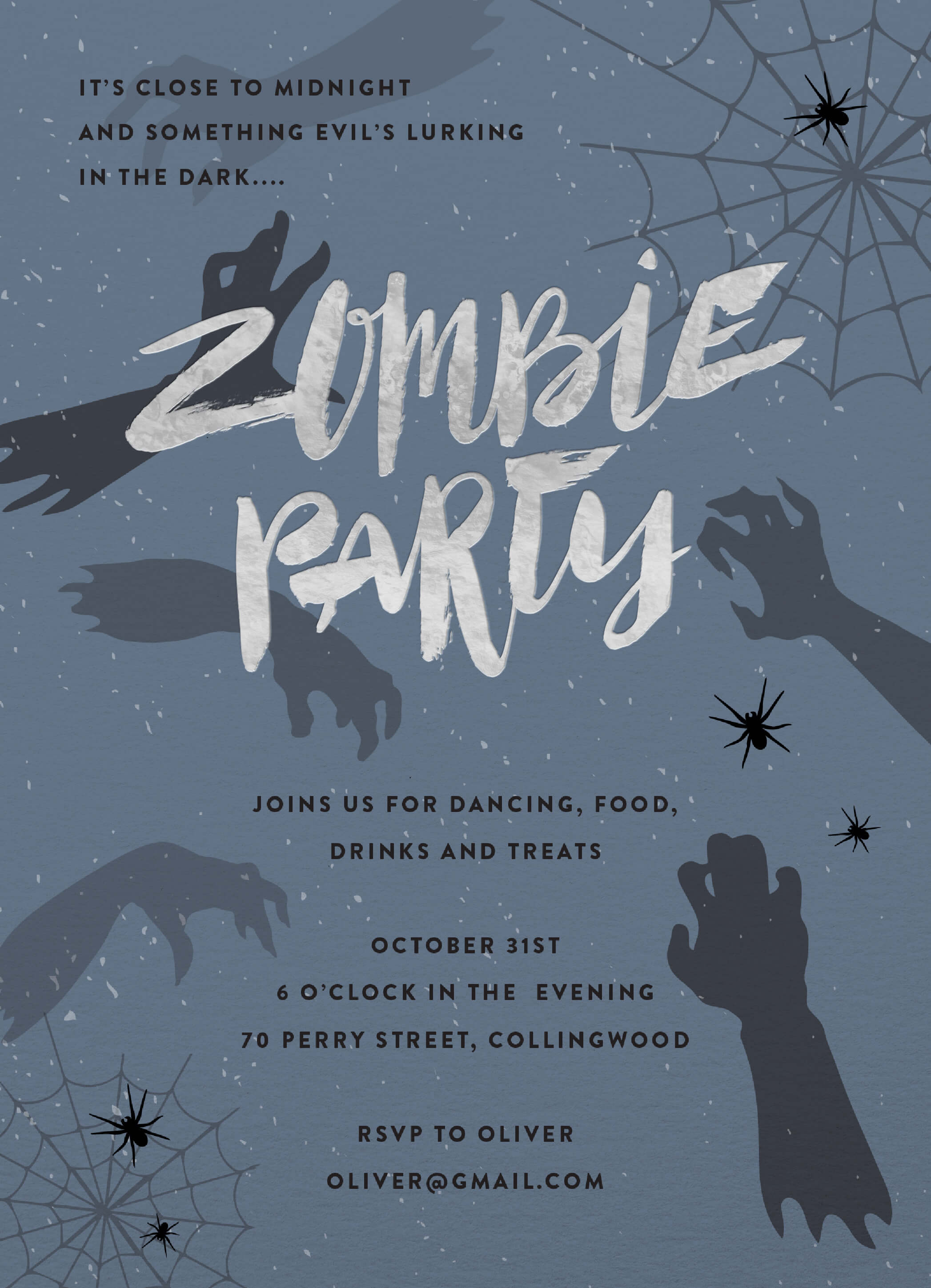 Zombie Party - Kids Halloween Invitation