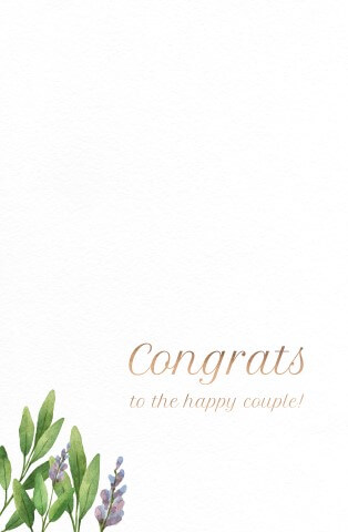 Minimalist Floral - wedding cards