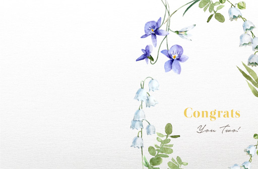 Lovely Floral - wedding cards