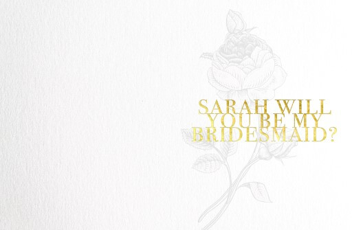 Floral Bridesmaid - Bridesmaid Cards