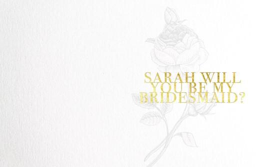 Floral Bridesmaid - wedding cards