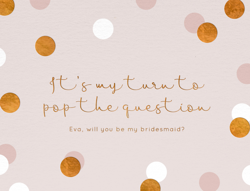 Polka Dot Bridesmaid - Bridesmaid