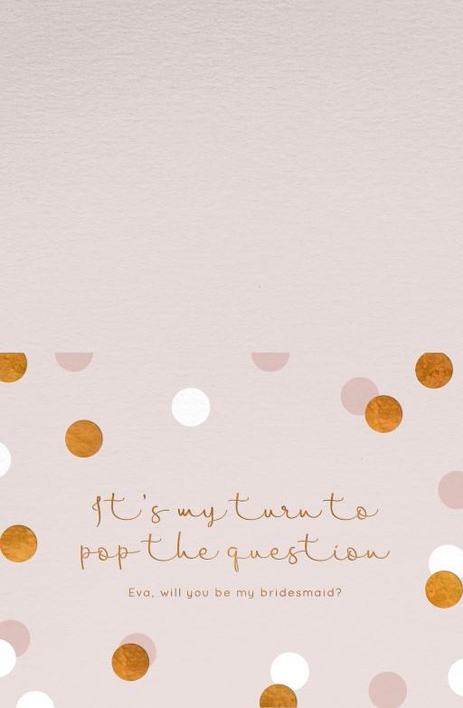 Polka Dot Bridesmaid - Bridesmaid Cards