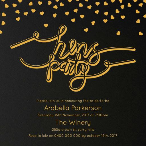 Classic Confetti - bridal shower invitations
