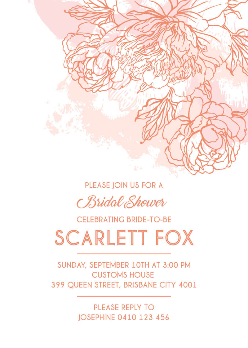Shining Bloom - Bridal Shower Invitations