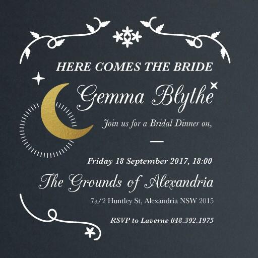 Moonlit Night - bridal shower invitations