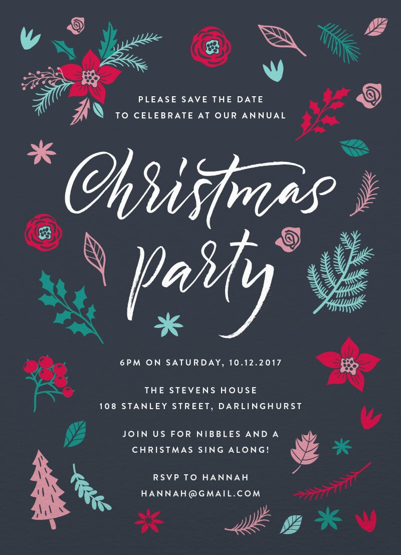 Merry little Christmas Invitation - Christmas Party Invitations