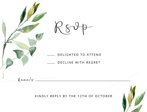 Garden window - RSVP Cards