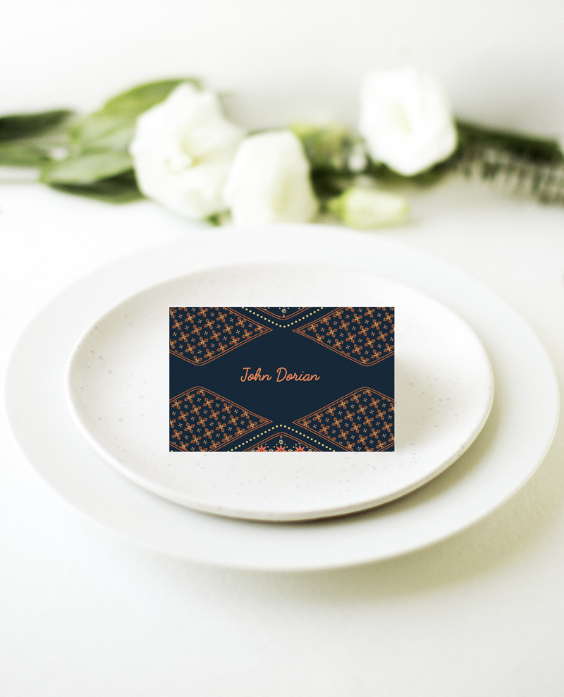 Moroccan Nights - Place Card 1