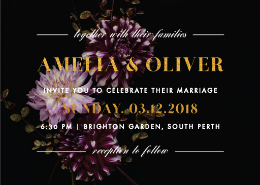 Violet Wedding Invitations - wedding invitations