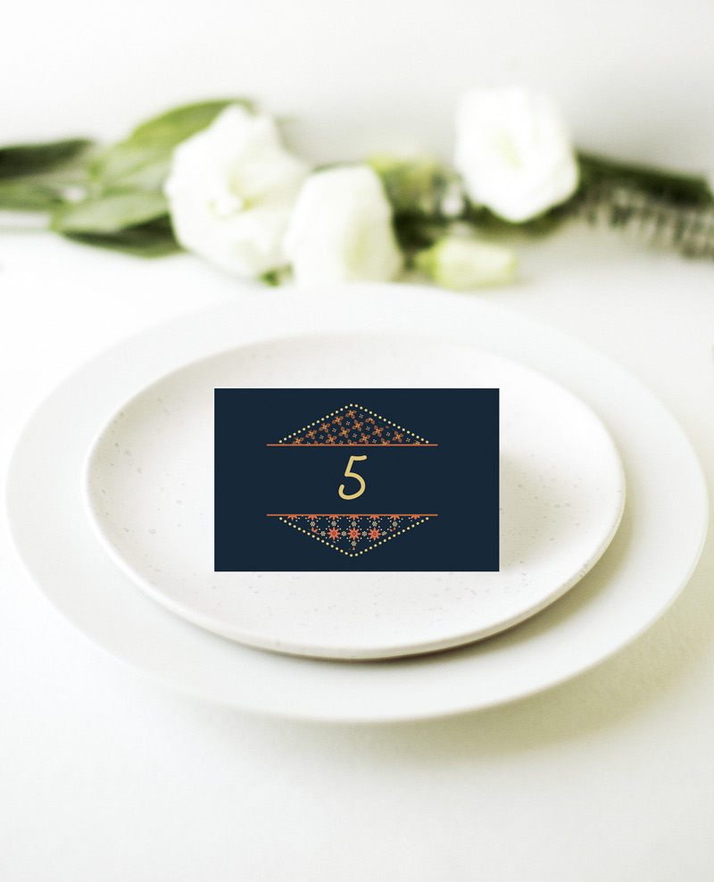 Moroccan Nights - Place Card 2
