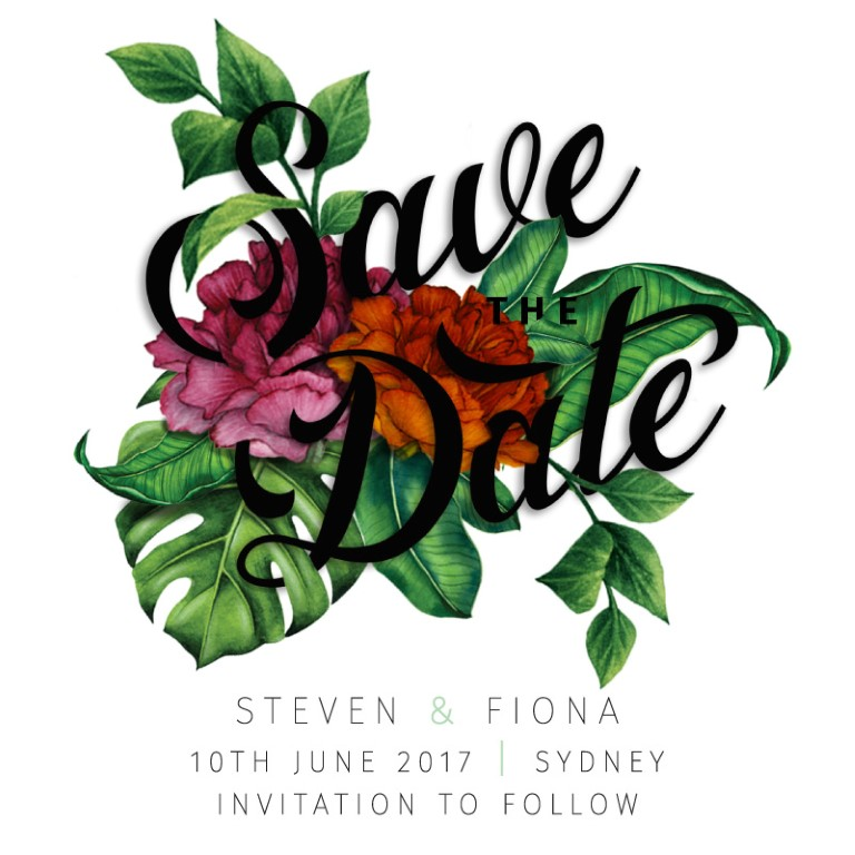 Save the dates in Sydney