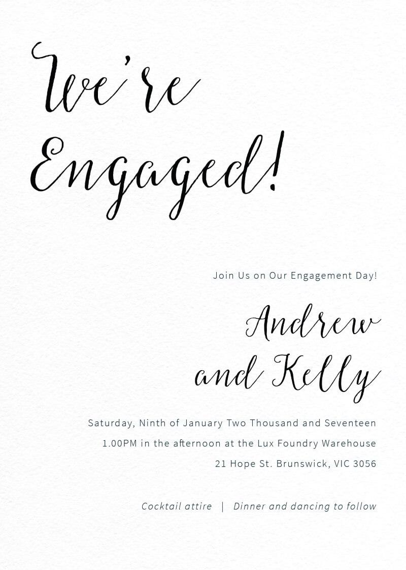 Rustic - Engagement Invitations