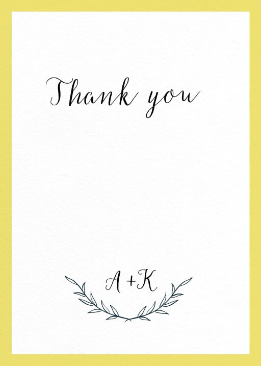 Rustic - Thank You Cards