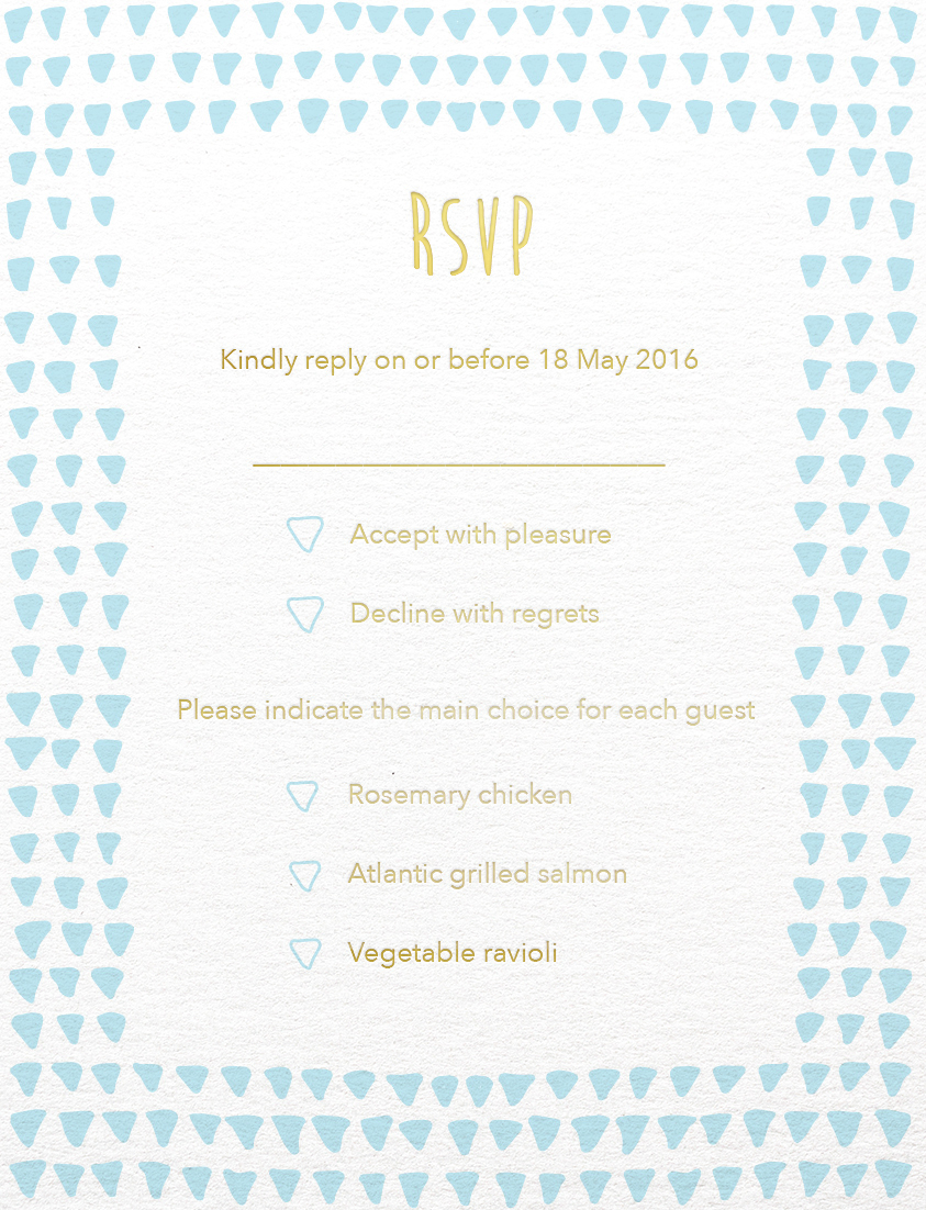 Droplets - RSVP Card