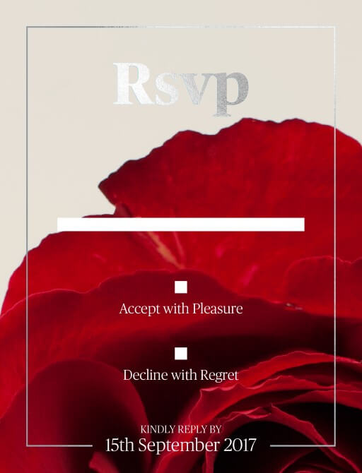 Red Roses - RSVP Cards