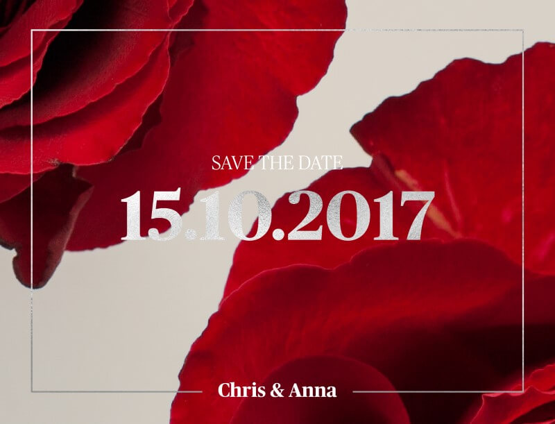 Red Roses - Save The Date