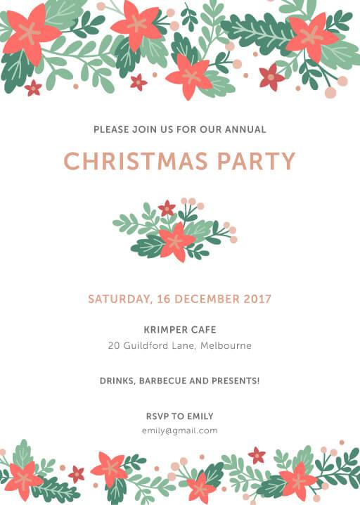 Happy Holidays Invitation - christmas party invitations