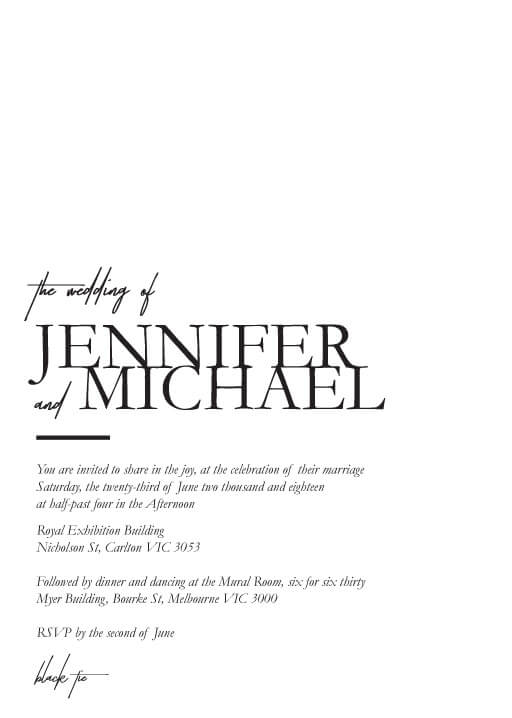 The BWM Wedding Invitations - wedding invitations