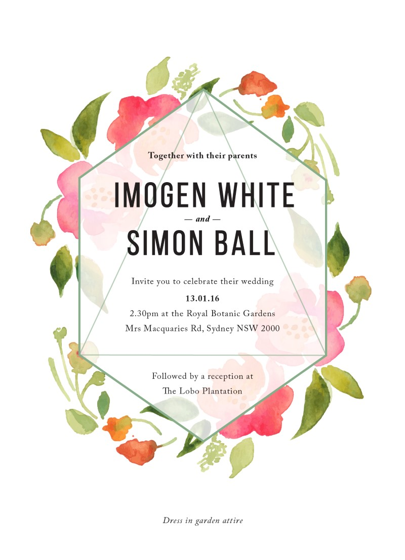 Wreath - Invitations