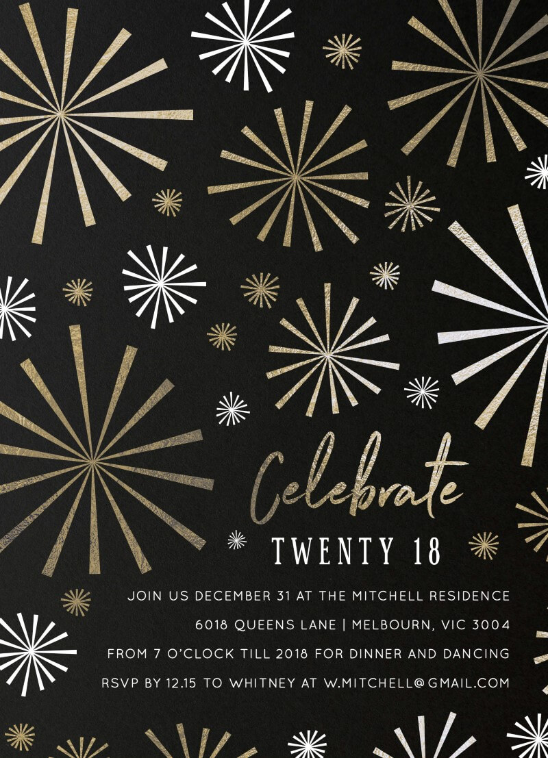 Fireworks - Christmas Party Invitations