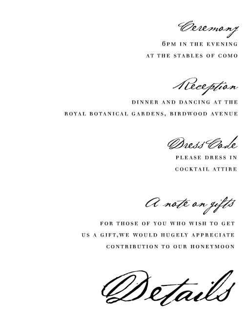 Simple Script - Information Cards