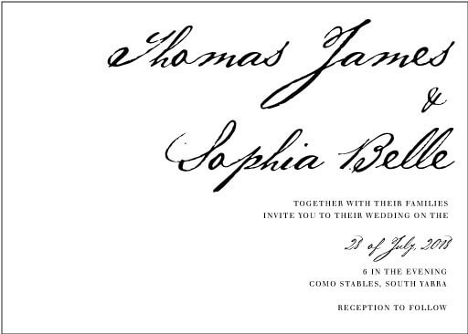 Simple Script Wedding Invitations - wedding invitations