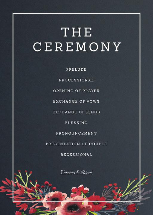 Grand Burgundy - Order of Service