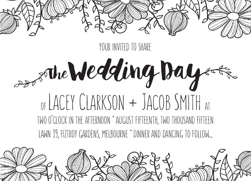 Daisy Chain - engagement invitations