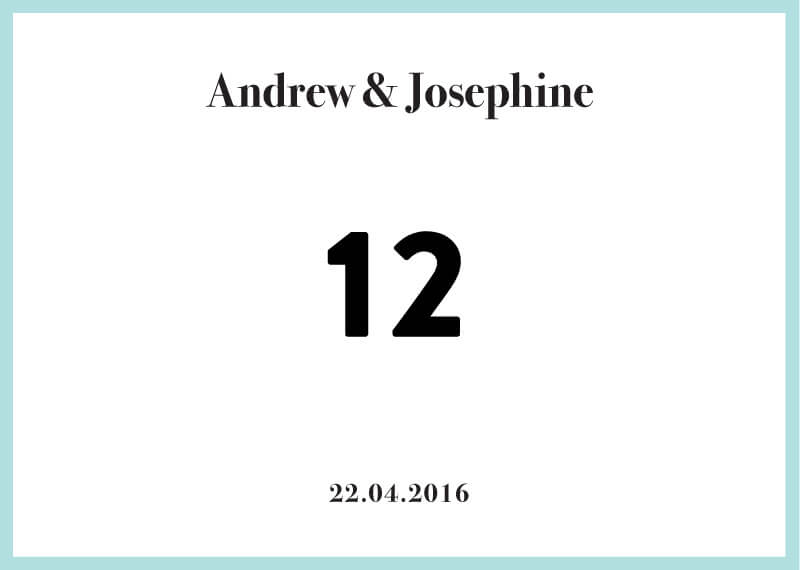 Pastel Pantone - Table Numbers
