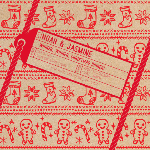 Chrissy Present - christmas party invitations
