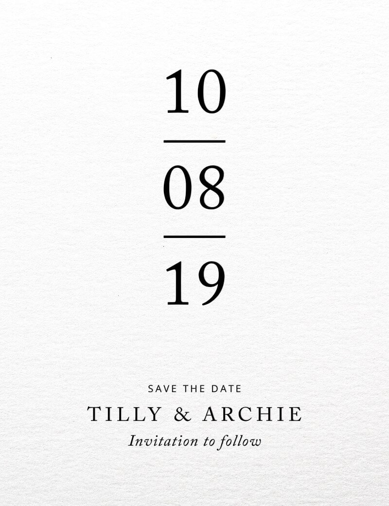 Black and White - Save The Date