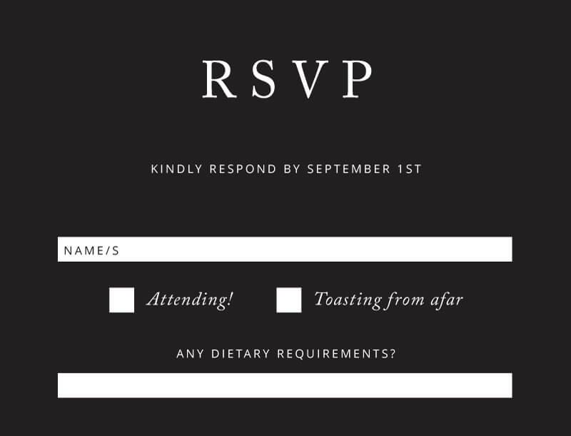 Black and White - RSVP