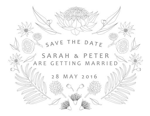 Australian Native Colour - Save The Date