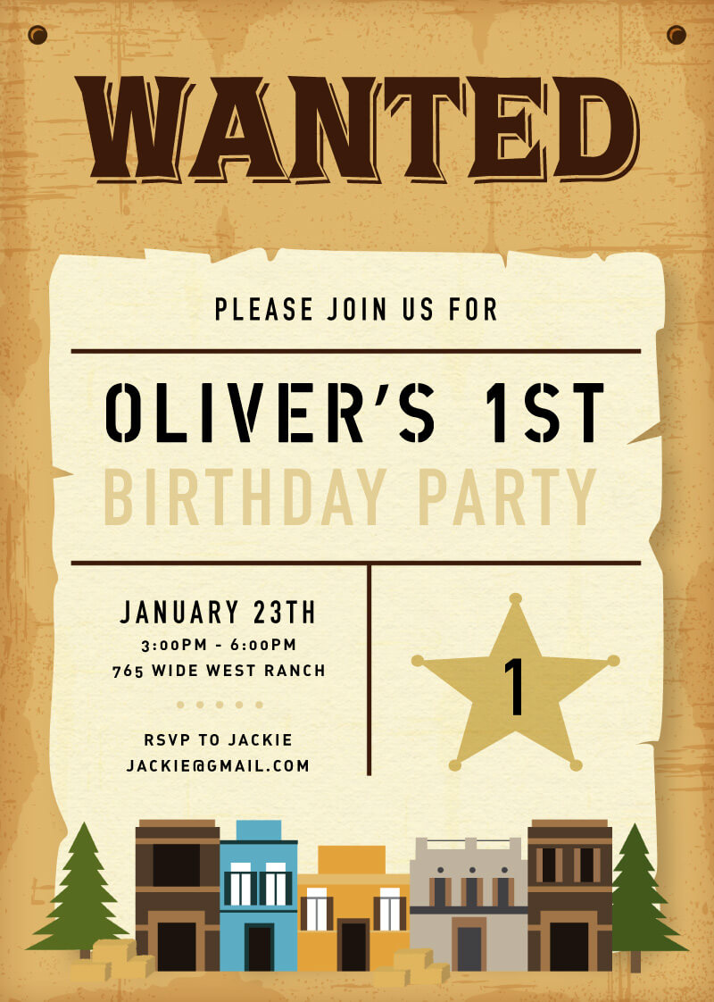 Western - Birthday Invitations