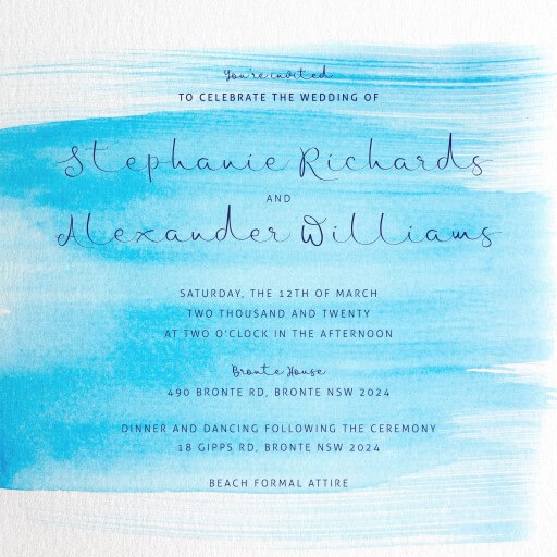 Water Wedding Invitations - wedding invitations