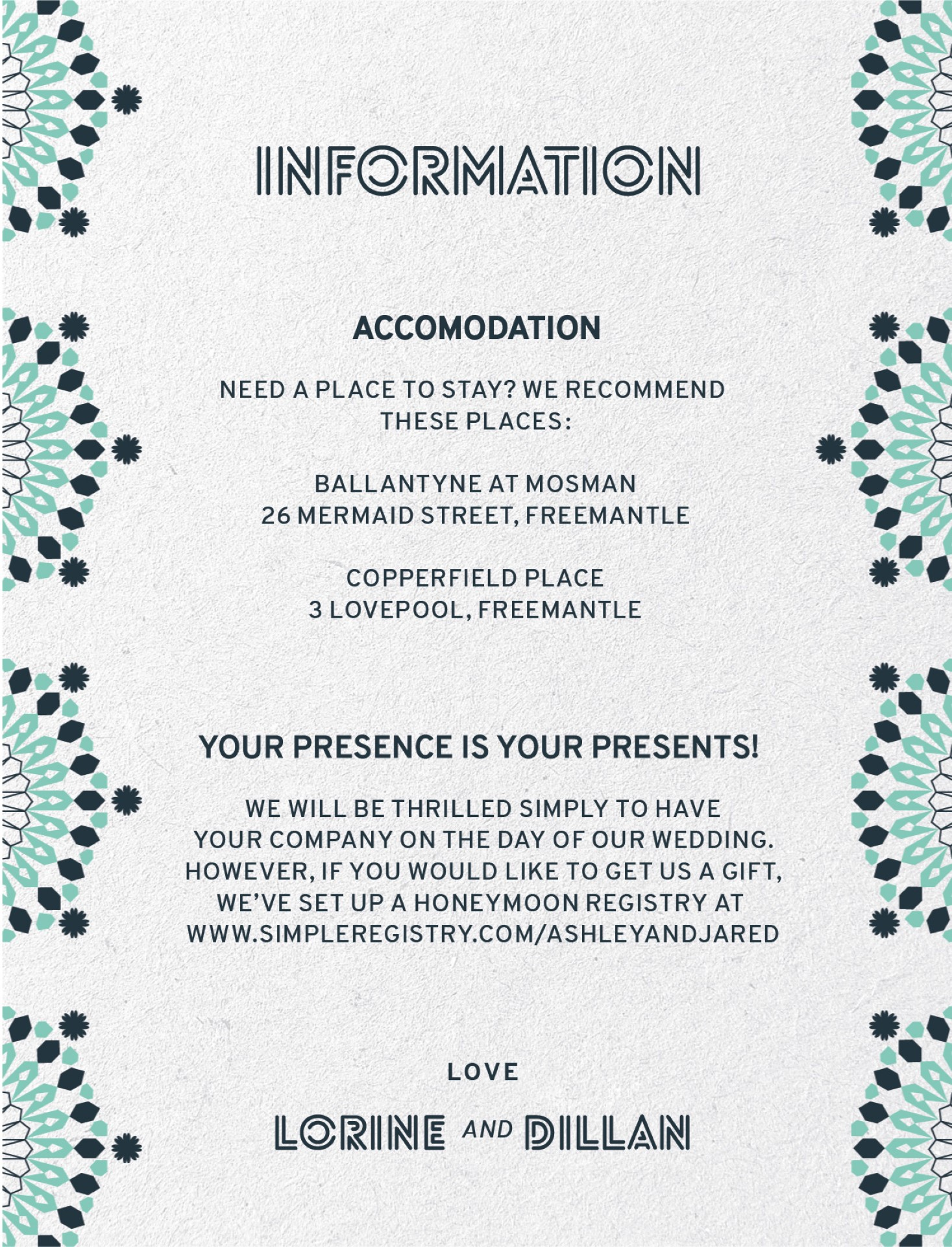 Kaleidoskop - Information Card