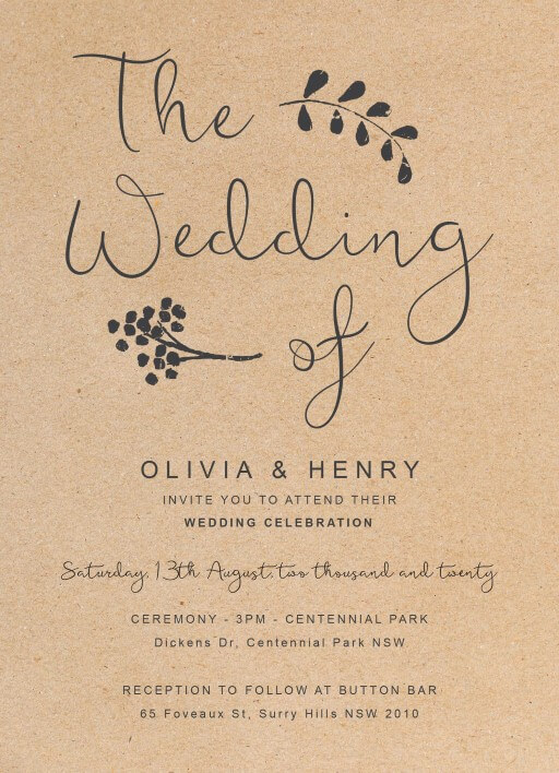 Charcoal Rustic - wedding invitations