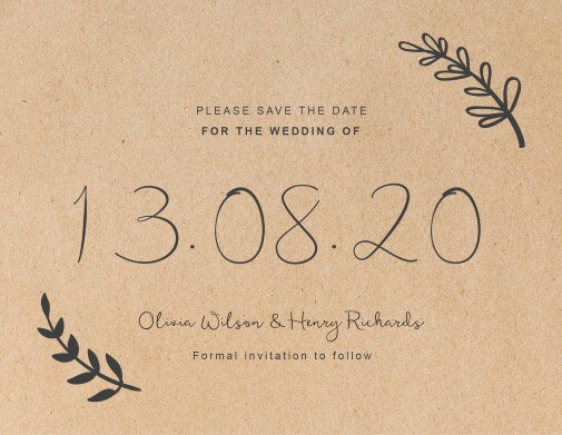 Charcoal Rustic Save The Date - Save The Date