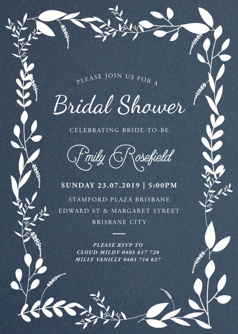 Tresco Abbey - Bridal Shower Invitations