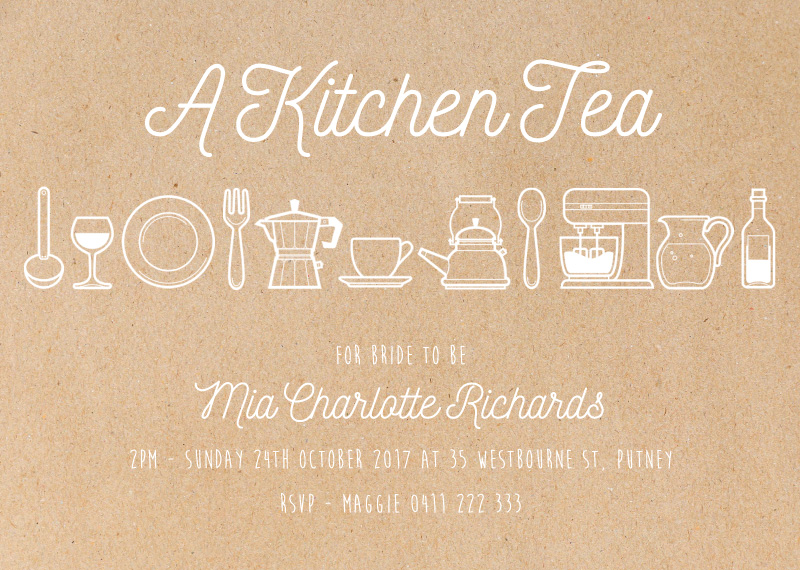 A Kitchen Tea - Bridal Shower Invitations