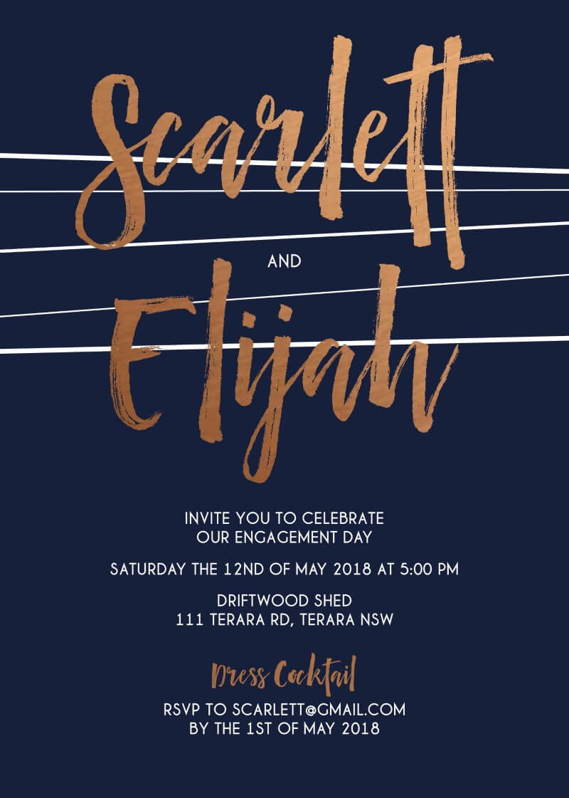 Love Lines - Engagement Invitations