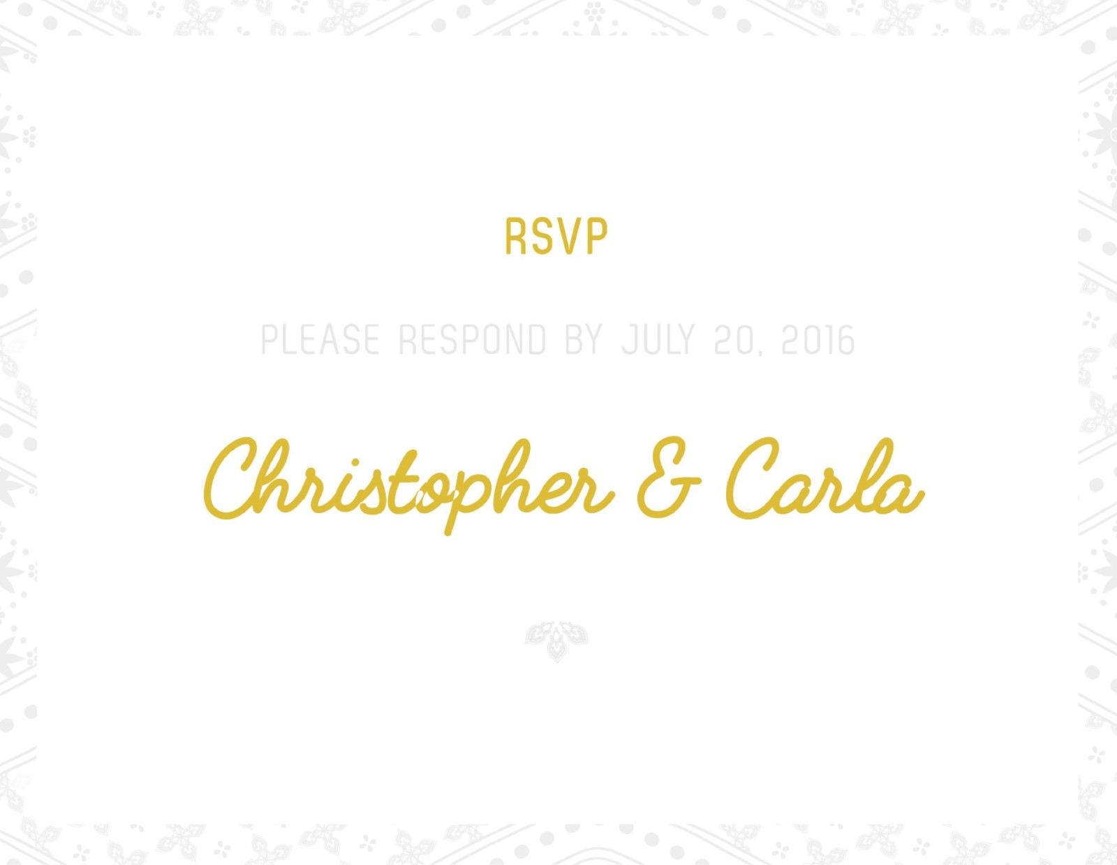 Moroccan Nights Letterpress - RSVP Card